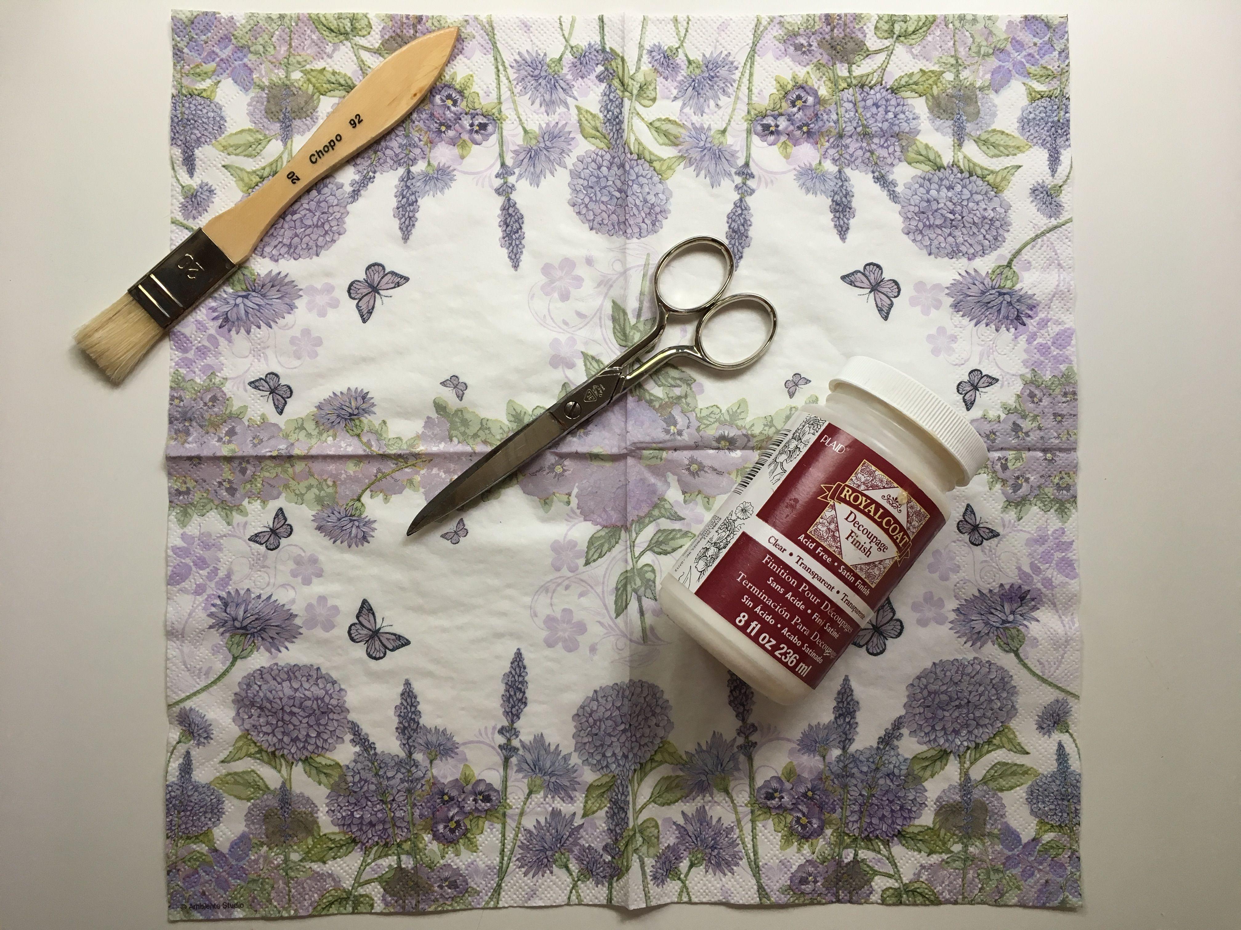 Macetas decoradas con decoupage en mis manitas diy blog - Pegamento para decoupage ...
