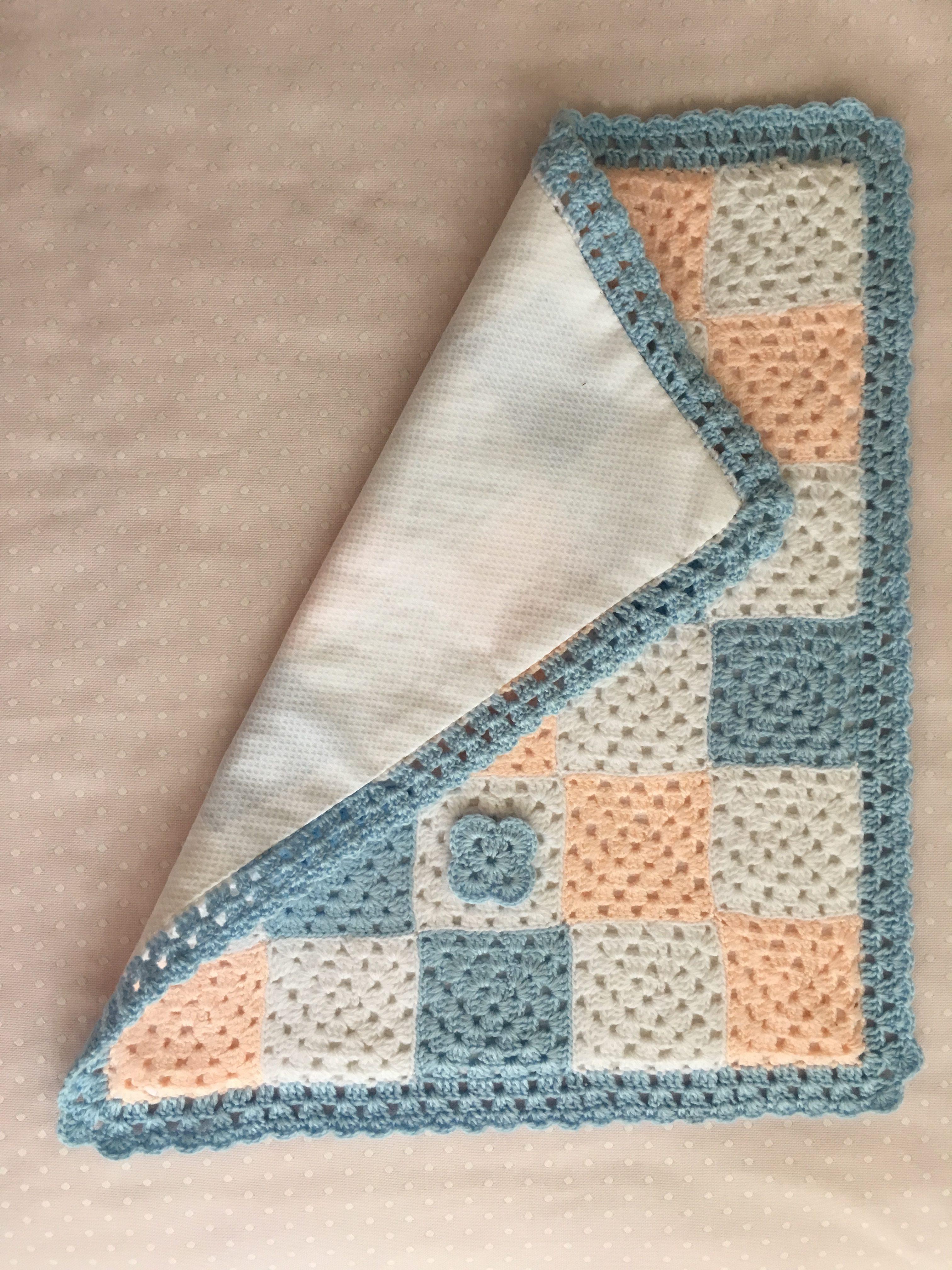 Como Hacer Cuadros De Crochet Para Mantas.Manta Para Bebe 2 En Mis Manitas Diy Blog De Manualidades Y Reciclaje
