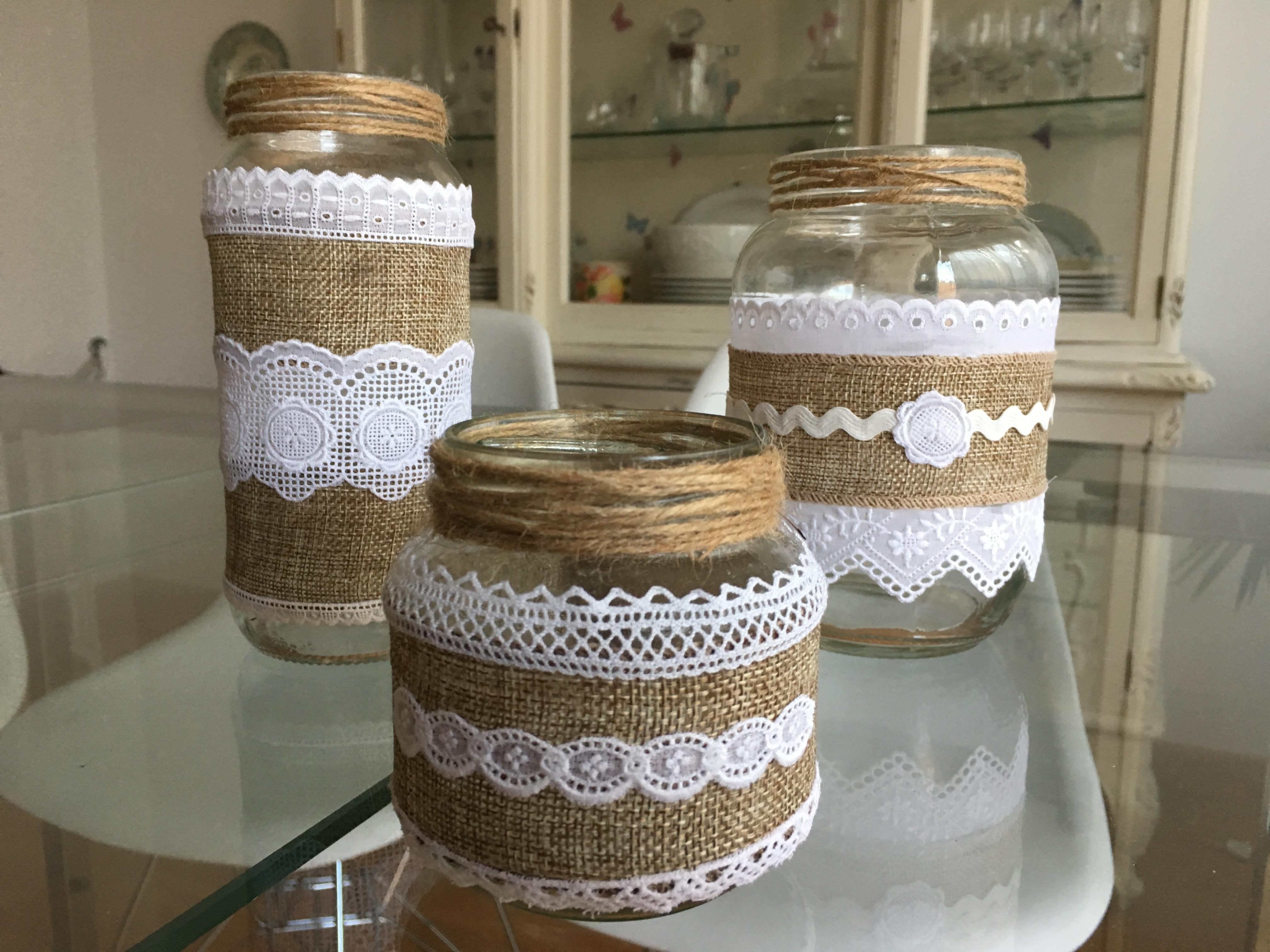 Reciclar botes de cristal en mis manitas diy blog de - La casa de las manualidades ...